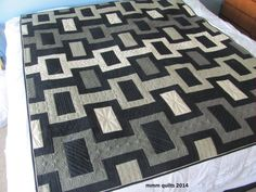 Rockes by Michelle. Masculine quilt in grays. Could also use other colors: navy, batiks, solids.