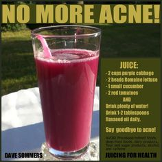Natural Cures Not Medicine: A Natural Acne Smoothie