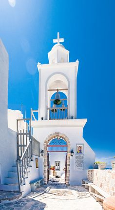 The entrance of Panagia Spiliani Monastery, Nisiros island, Greece.