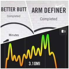 NTC better butt and arm definer focus workouts and 3.10 treadmill interval and incline run