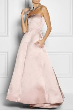 Rethink pink - it's the color of the season. Rochas | Pleated duchesse-satin and silk-faille gown | NET-A-PORTER.COM