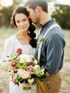 love this farm to table inspired wedding shoot
