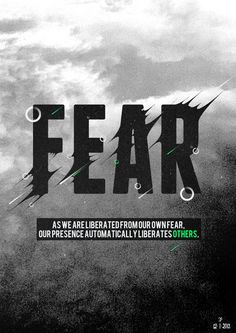 a reminder that as we face our fears we inspire others to face their fears....all of us doing our heartwork