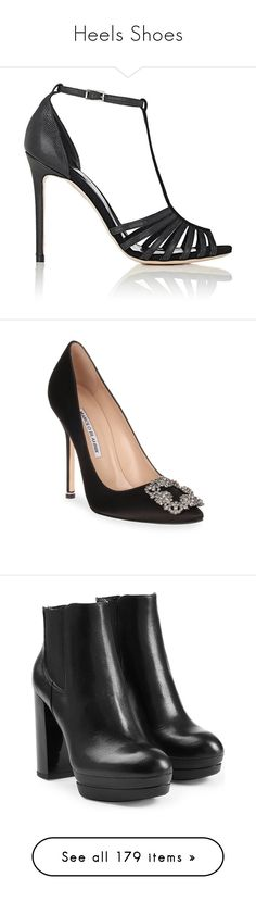 """""""Heels Shoes"""" by bnt-cool on Polyvore featuring shoes, sandals, black, high heels sandals, black high heel sandals, leather high heel sandals, buckle sandals, leather sole sandals, pumps and black pumps"""