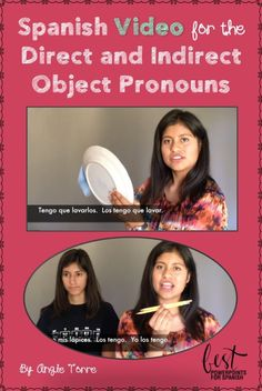Spanish Video for the Object Pronouns: What's better comprehensible input than conversation with a native speaker? Videos of native speakers with Spanish subtitles and realia to aid in comprehension, with music and corresponding activities for recycling and repetition of vocabulary and concepts. Video of Jessica, Rodrigo, and Melanie demonstrating the use of the object pronouns. Jessica uses the direct object pronouns and double-object pronouns multiple times in her discourse.