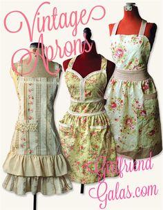 Fun vintage & retro aprons for the hostess with the mostest! Shop GirlfriendGalas.com!