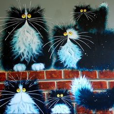 Kim Haskins ( b.1981)  —  Wall For Cat (900x896)