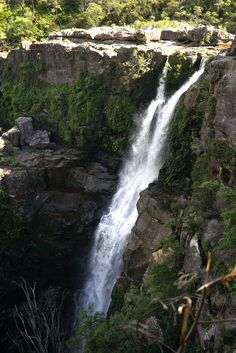 Waterfalls in Murramarang national park in NSW Australia.