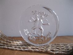 New Item!!! Vintage Dartington England Crystal Glass Zodiac Paper Weight - Gemini - Frank Thrower Design...Reshopgoods by Reshopgoods on Etsy