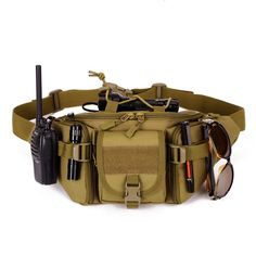 Tactical molle 1000D NYLON Impermeable bolso de La Cintura Del paquete de Fanny Senderismo Pesca Caza Deportiva de Cintura Bolsas de deportes Tácticos bolsa de Cinturón
