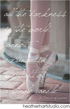 Ballet Quote, Pointe Shoes, Ballet Art Print Modern Ballet Dance by withhart, $15.00
