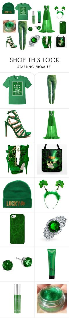 """happy st.patricks day"" by athenafell-769 ❤ liked on Polyvore featuring Due., Casetify, Bling Jewelry, Matrix Biolage and Kat Burki"