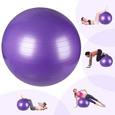 Swiss BallEasylife 65cm Exercise Ball with PumpAntiburst Non slip Yoga Ball Stability Ball for Sports and Fitness Home Workout Pilates Yoga Abs Full Body Workout -- Details can be found by clicking on the image. (Note:Amazon affiliate link)