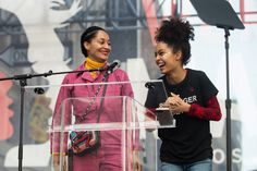 Just a couple weeks after her kickass Golden Globes speech, Tracee Ellis Ross spoke at the L.A. march with Yara Shahidi. #refinery29 http://www.refinery29.com/2017/01/137218/celebrities-womens-march#slide-3