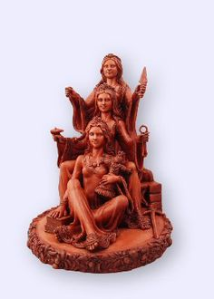 Triple Brigit....Lovely Celtic Brigit in her triple form: healer, builder, smith, scholar, midwife. Goddess of springs, wells, crops, livestock, and protection in all forms.