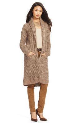 Wool-Alpaca Shawl Cardigan - Lauren Petite Sweaters - RalphLauren.com