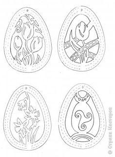 Украшение Пасха Аппликация Вырезание Готовимся к Пасхе Пасхальный декор из бумаги + схемы вытынанок Бумага фото 9