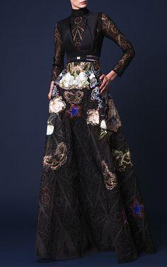 Lace Embellished Lon