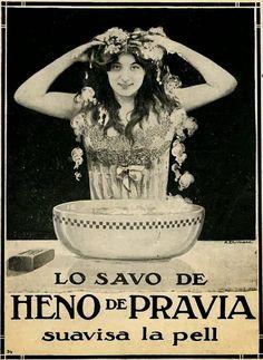 El Origen del Mundo: Cartells publicitaris del sabó Heno de Pravia en català 1913-1914