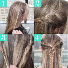 How To: Multi-Braid Half Up 'Do