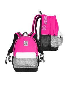 Victoria's Secret Campus Backpack Gypsy Rose/Marl Grey