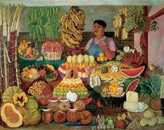 """Vendedora de fruta"", Olga Costa. Pineado de http://faculty.hope.edu/andre/artistPages/costa_gallery_oil.html Para seguir conociendo a esta artista, visitar también: http://pintorasmexicanas-olga-costa.blogspot.com.ar/ http://www.conaculta.gob.mx/detalle-nota/?id=28737"