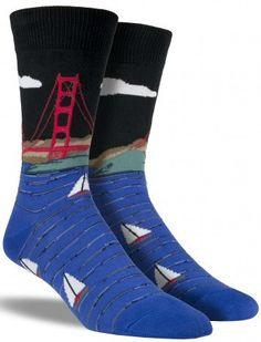Golden Gate Bridge Socks | Mens
