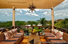 Open Air Terrace at Jardin del Eden Hotel - Jardin del Eden Hotel, Tamarindo Beach Costa Rica - north pacific: tamarindo costa rica hotels & resorts