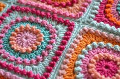 Circle of Friends Square by P. Hewitt: This pin links directly to the free pattern on ravelry.