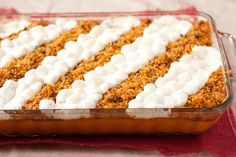 One of my FAVS Cooking Classy: Browned Butter Sweet Potato Casserole Cornflake Potato Casserole, Sweet Potato Casserole, Sweet Potato Recipes, Thanksgiving Recipes, Holiday Recipes, Thanksgiving Sides, Holiday Meals, Yams With Marshmallows, Candy Yams