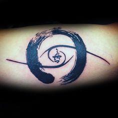 Spiral Enso Mens Inner Forearm Tattoo