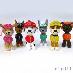 Paw patrol puppies amigurumi pattern by nipiti