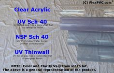 #1 FlexPVC®.com PVC Buy Clear, White, Gray and other colored PVC Pipe Sch 40, Sch 80, Class 200, Class 315, SDR 17, SDR 26, CL63, IPS64, PIP, etc.