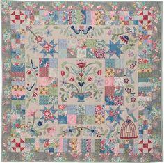 Paper Garden by Rosalie Dekker: Block of the month at Red Thread Studios Sampler Quilts, Scrappy Quilts, Mini Quilts, Patchwork Quilting, Patch Quilt, Applique Quilts, Quilt Blocks, Fabric Patch, Quilting Tutorials
