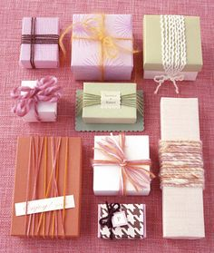 pretty wrapping with yarn