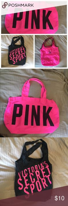💠Bundle Sale ends at 6PM💠 3 Victoria Secret Totes. Totes  are in good condition. I need to make room in my closet. Victoria's Secret Bags Totes