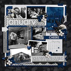 Credits: - 2017 Calendar Templates - Libby Pritchett http://www.sweetshoppedesigns.com/sweetshoppe/product.php?productid=35683&cat=879&page=1 - Celebrate: A New Year - Libby Pritchett & Amanda Yi - Universal Album 6 - Cindy Schneider