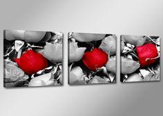 CUADRO EN LIENZO ROSA LINDA AMORE, Arte, Dibujo, Arte, Ilustración, Arte, Pintura, Arte, Fotografía, Hogar, Decoración, Hogar, Cuadros