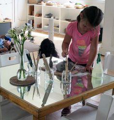 Love this mirror table at Nido La Casa Amarilla