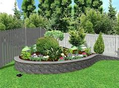 Backyard landscaping idea and Retaining wall design.