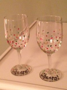 Cheers... Christmas wine glasses