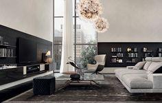 Mondrian console, Mondrian sofa, Mondrian coffee tables. Mad Joker armchair and Play pouf