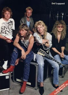 Def Leppard, circa 1987; from a pinup in 16 magazine, exact issue unknown