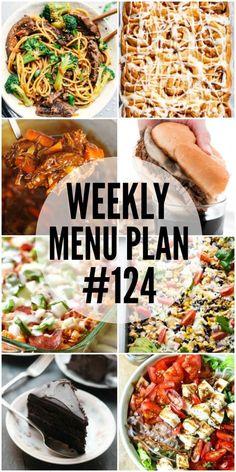 Weekly Menu Plan #124 | Lil' Luna
