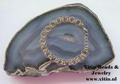 Chainmaille helm weave bracelet www. Woven Bracelets, Jewelry Bracelets, Chainmaille, Weave, Fabric Bracelets, Hair Lengthening, Braided Bracelets