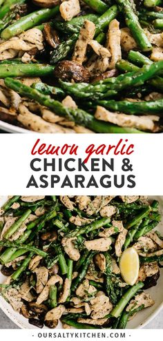 Quick and easy doesn't need to mean bland and boring, and this Lemon Garlic Chicken and Asparagus is proof! This squeaky clean one skillet recipe requires just a handful of real whole foods, one pan, and 30 minutes. Gluten Free Recipes For Dinner, Whole 30 Recipes, Healthy Dinner Recipes, Chicken Recipes Dairy Free, Gluten Free Dinners Easy, Easy Healthy Weeknight Dinners, Healthy Clean Dinner, Lemon Recipes Dinner, Dairy Free Recipes Healthy