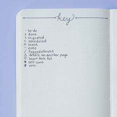 Add additional symbols to your key to denote important things. | Here's How To Use A Bullet Journal For Better Mental Health