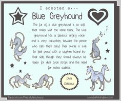 I adopted a... Blue Greyhound  6x8 Print by Eppy on Etsy, £5.00