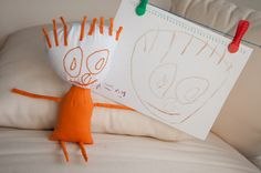 Children Drawings Turned Real Plush Toy