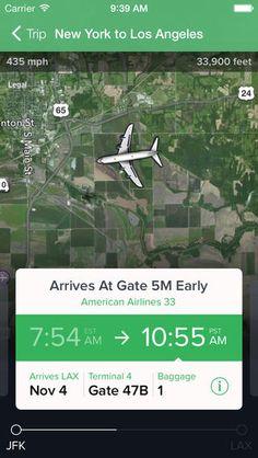 FlightTrack 5 By Mobiata  app iphone flight travel